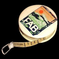 Vintage Colgate FAB Advertising Celluloid Measuring Tape
