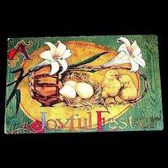 "Vintage ""A Joyful Easter"" Postcard"