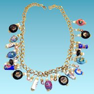 Lovely Hand Painted & Unique Beaded Necklace