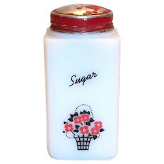 Tipp Novelty Co. Basket Glass Sugar Shaker