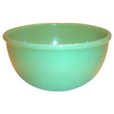 "Vintage Fire King Jadite Glass 6"" Rd Beaded Edge Bowl"