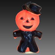 Vintage Gurley Novelty Pumpkin Man Candle