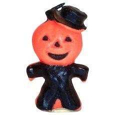 Vintage Gurley Novelty Pumpkin Man Candle