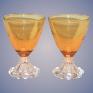Anchor Hocking Amber Berwick/Boopie Stemmed Cocktail Glass