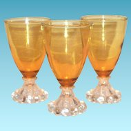 Anchor Hocking Amber Berwick/Boopie Stemmed Wine or Juice Glass