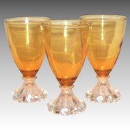 Anchor Hocking Amber Berwick/Boopie Stemmed Wine or Juice Glass