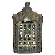 Vintage Cast Iron Building Bank