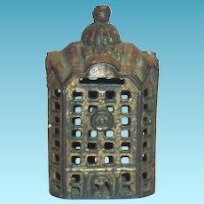 Vintage Cast Iron Building Bank
