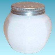 Vintage Watkins White Glass With Tin Lid Cream Jar