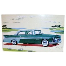 Vintage 1956 DeSoto Fireflite Sedan Advertising Postcard