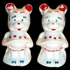 Vintage Leeds Disney Minnie Mouse Salt & Pepper Shakers