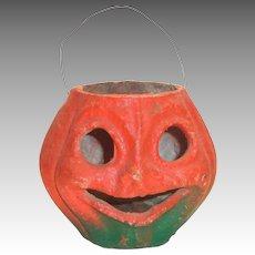 Vintage Paper Mache Halloween Jack-O-Lantern