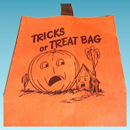 SALE Vintage Storpak Unused Halloween Paper Trick Or Treat Bag
