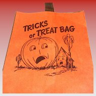 SALE Vintage Storpak Unused Halloween Paper Trick Or Treat Bag