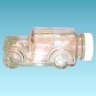 Vintage Clear Glass 1929 Car Candy Holder/Container