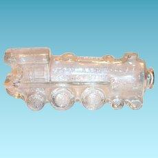 Vintage Glass Train Engine Candy Holder