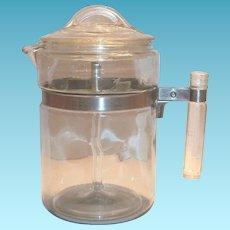 Pyrex 1940's-50's Flame Ware Glass Percolator Coffee Pot