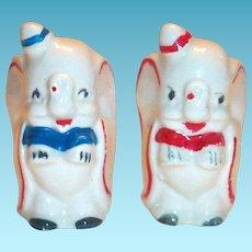 Vintage Disney: Leed's Pottery Hand Painted Dumbo Salt & Pepper Shakers
