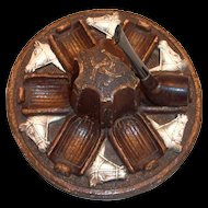 Syroco Wood: Horses Head Design 6 Pipes Pipe Holder