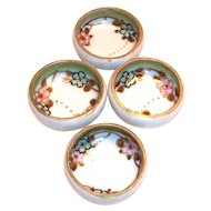 Vintage Nippon Hand Painted Porcelain Salt Cellar