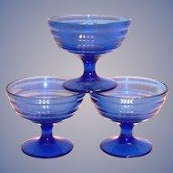 Hazel Atlas Cobalt Blue Moderntone Sherbert