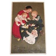 Vintage Loving Easter Greetings Postcard