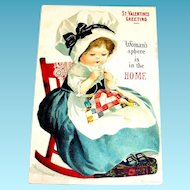International Art Publishers Co.: St. Valentines Greeting Postcard
