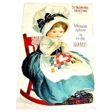 International Art Publishers Co.: St. Valentines Greeting Postcard