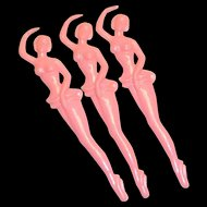 Vintage 1960's Ched's Cocktails, New Orleans Plastic Pink Lady Swizzle Stick