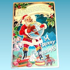 Early 1900's A Merry Christmas Postcard