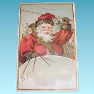 E.B.N.Y.: A Merry Christmas, Santa Claus Postcard - 1908 - Germany