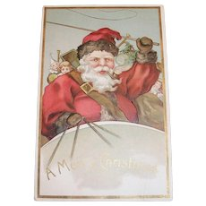 E.B.N.Y.: A Merry Christmas, Santa Claus Postcard - 1908 - Germany