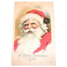 A Merry Christmas To You, Santa Claus Postcard - 1921