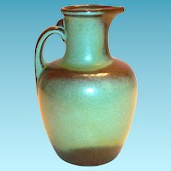 Vintage Frankoma Prairie Green Pottery Pitcher