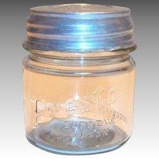 Vintage Presto Supreme Small Mason Jar with Original Presto Lid