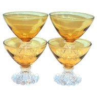 Anchor Hocking Berwick/Boopie Amber Glass Sherbert