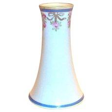 Vintage Nippon Floral Trim Design Porcelain Hat Pin Holder