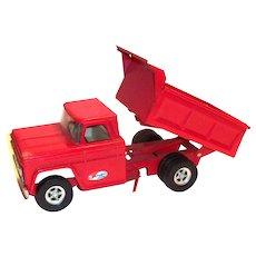 Vintage Structo Red Hydraulic Dump Truck - 1966