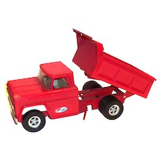 Vintage Structo Red Hydraulic Dump Truck - 1966