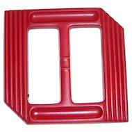 Vintage Dark Berry Red Bakelite Belt or Scarf Slide