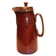 Hull Brown Drip Pottery Coffee Server