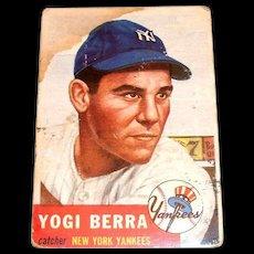 Vintage 1953 Yogi Berra Baseball Card #104
