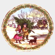 Spode China: The Victorian Christmas Series: Gathering Of The Tree Plate, No. 1
