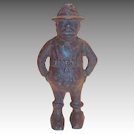 """Vintage Black Americana: The Share Cropper """"Give Me A Penny"""" Cast Iron Bank"""