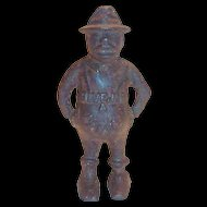 "Vintage Black Americana: The Share Cropper ""Give Me A Penny"" Cast Iron Bank"