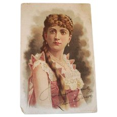 Old Play Bill Of Lillian Olcott In Theodora - 1888
