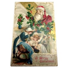 Wishes Sincere, A Merry Christmas Postcard - 1909