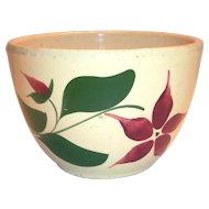 "Watts Poinsettia/Star Flower Advertising 6 1/2""Rd Pottery Bowl"