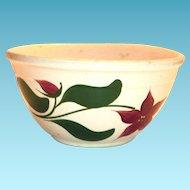 Watts Poinsettia/Star Flower Advertising Pottery Bowl