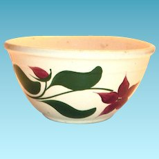 Watts Poinsettia/Star Flower Advertising Pottery Bowl
